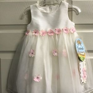 Cinderella Brand White Dress & Bloomers NWT 24M.